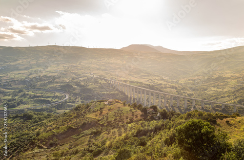 Spectacular view from Agnone, Italy Canvas Print