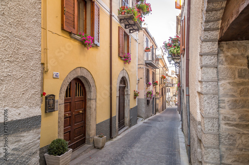 Narrow Streets in Agnone Canvas Print