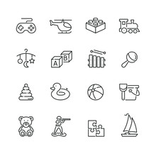 Toy Related Icons: Thin Vector...