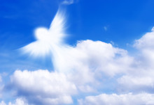 Angel Of Clouds In The Sky