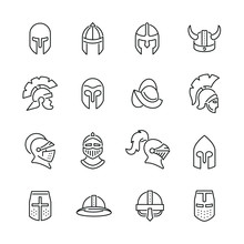 Knight Helmet Related Icons: T...
