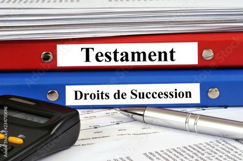 Fotografie, Obraz  Dossier testament et droits de succession
