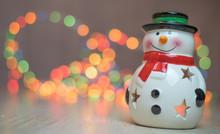 Ornamental Snowman Candle Ligh...