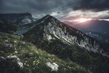 Alpen - Sonnenuntergang Auf De...