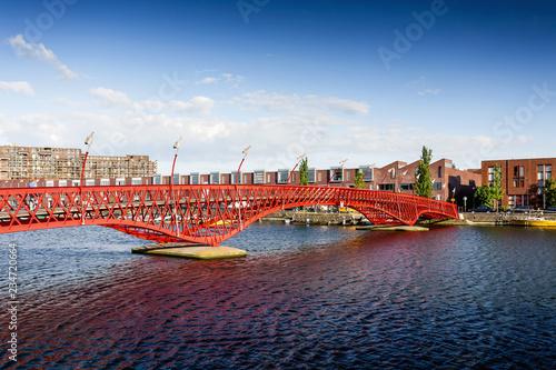 Python Bridge in Amsterdam, Netherlands Canvas Print