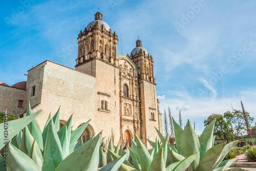 Fotobehang Mexico Beautiful view of Santo Domingo Old Monastery in Oaxaca, Mexico