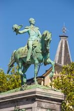 Place Guillaume II, Equestrian Statue Of Grand Duke William II City