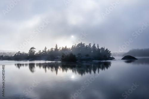 Foto auf Gartenposter Stockholm Rocky landscape near Ringsön Island, Stockholm archipelago, sweden
