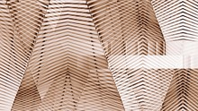 Abstract Copper Modern Architecture Of A Steel Wall Pattern.