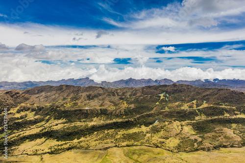 Spoed Foto op Canvas Zuid-Amerika land Paramo de Oceta and his Espeletia Frailejones Mongui Boyaca in Colombia South America