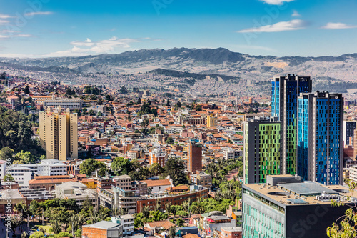 Garden Poster South America Country Bogota Skyline cityscape in Bogota capital city of Colombia South America