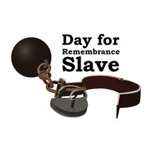 Concept On Day For The Abolition Of Slavery. Image Of Open Shackles, Vector Illustration