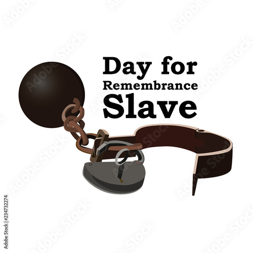 Canvas Print Concept on Day for the abolition of Slavery