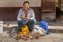 Street Craft Vendor In Mexico....