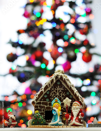 Christmas Tree And Christmas House With Gingerbread Cookies Buy