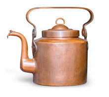 Old Copper Teapot Isolated