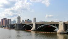 View Of Longfellow Bridge And Charles River In Boston, Massachusetts