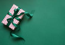 Christmas Giftbox With Green R...
