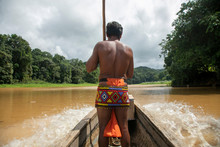 Indigenous Embera In Boat Cro...