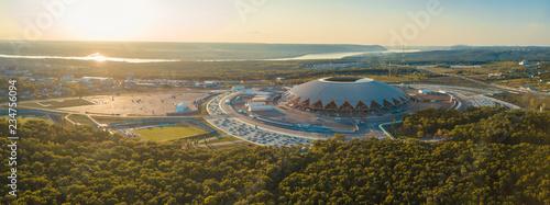 Valokuvatapetti Stadium Aerial View