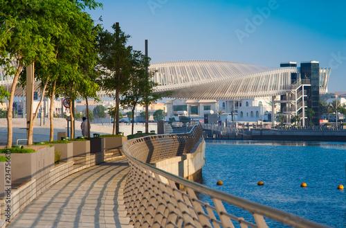 Stampa su Tela Dubai Water Canal Footbride, cityscape