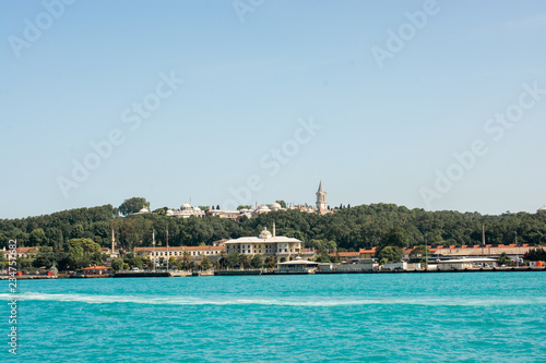Foto op Plexiglas Caraïben Istanbul Cityscape with famous building silhouette