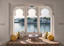 Window. Beautiful View On Pichola Lake Udaipur