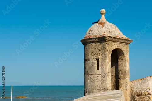 Fotografija Watchtower on the old defensive wall, Cartagena de Indias, Colombia