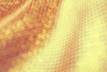 Texture Of The Fabric, Side, Background Of Fabric In The Highlight. Golden Color