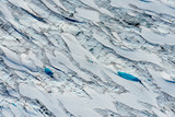 Amazing variations of blue on this aerial image of Tunsbergdalsbreen, Norway's longest glacier arm of the Jostedalsbreen ice cap