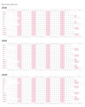 Business Planner Calendar Vect...