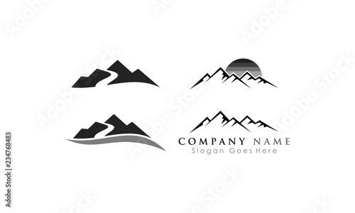 Fototapeta set mountain peak logo vector obraz