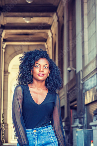 Young African American Female College Student With Afro Hairstyle