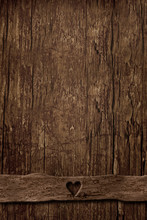 Empty Background Of Old Vertical Wood