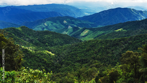 landscape of Mountain in Nan province Thailand.