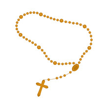 Isolated Rosary Beads Icon. Vector Illustration Design