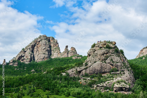 Photo The summer Lama mountains in Blin town Hulunbuir city, China.