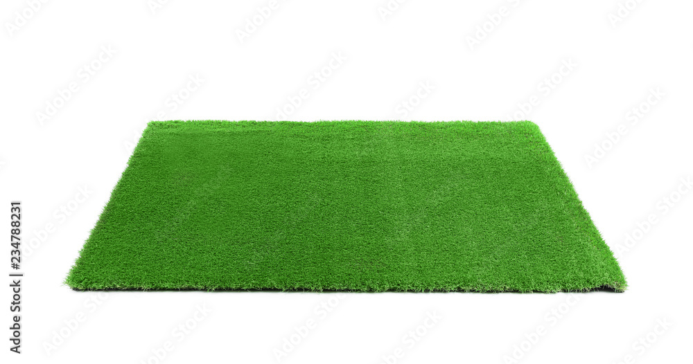 Fototapety, obrazy: Artificial grass carpet on white background. Exterior element