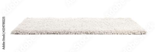 Fotografía  Fuzzy carpet on white background. Interior element