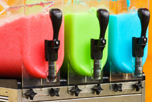 Close Up Of Slushy Machine