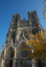 Reims,France-October 10,2018: Cathedral Of Notre-Dame Or Our Lady Of Reims In Reims, France