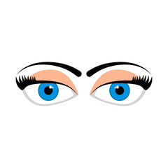 Isolated doubtful eyes image. Vector illustration design