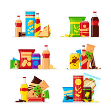 Snack Product Set, Fast Food S...