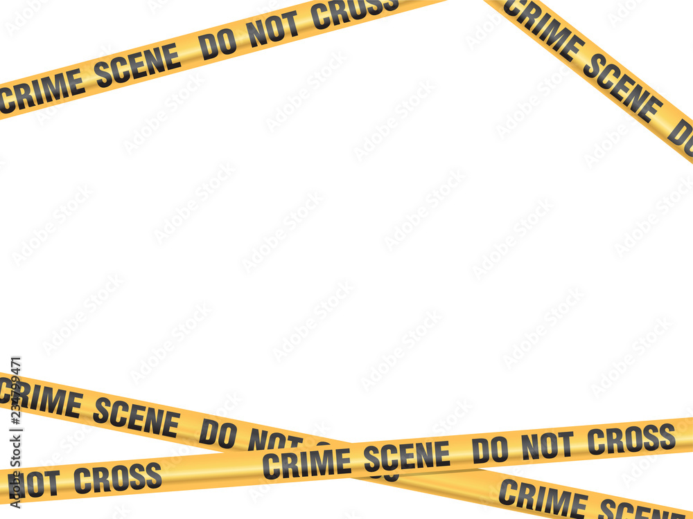 Fototapeta Crime Scene Do Not Cross vector