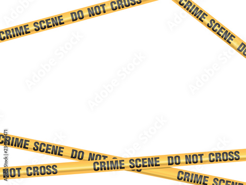 Photo Crime Scene Do Not Cross vector