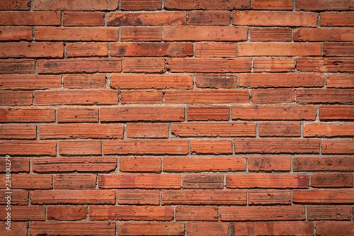 Foto op Aluminium Wand Background Orange wall large texture.