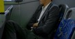 Business commuter sleeping while travelling in bus 4k
