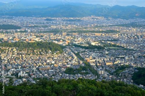 Deurstickers Asia land 京都 大文字山からの眺め