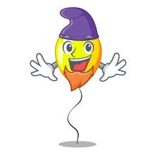 Elf Yellow Balloon Cartoon In Shape Illustration