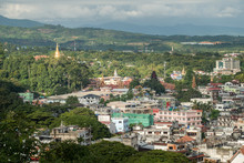 Beautiful Landscape Of Tachileik The Border Town Of Myanmar Between Chiang Rai Province Of Thailand.
